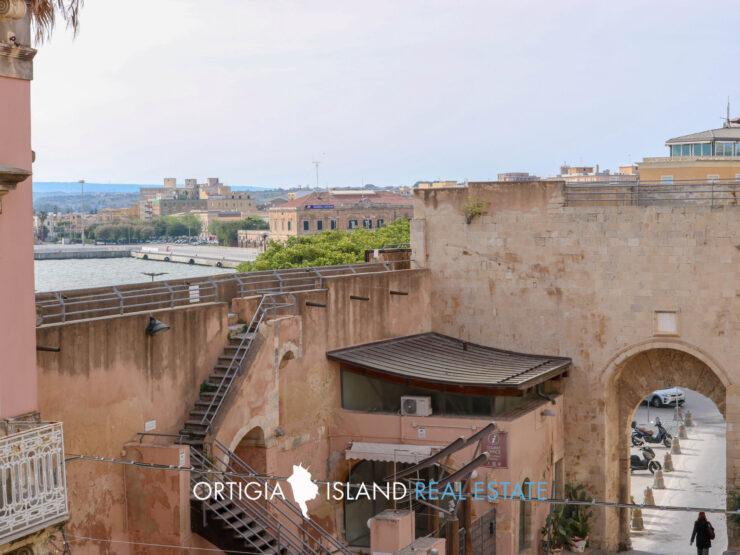 Ortigia Porta Marina appartamento con terrazza vista mare